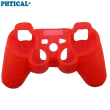 PHTICAL Silicone Skin for Playstation 3 PS3 Controller Grip Rubber Cover Protector Case Gaming Accessories - Red