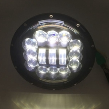 1 PCS 7inch LED Headlight 60W Round H4 Headlamp For Jeep Wrangler Hummer Harley Motorcycle ( Pcs)(China)
