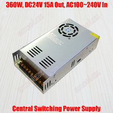 15A 360W DC 24V Output AC 110V 220V In Centralized Power Supply Central Switching Power Source for CCTV Camera Security System