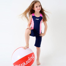 2017 One Piece Children Swimwear Girls Boys Swimsuits Bathing Suits Kids Beachwear Patchwork Child Swim Wear S M L XL XXL XXXL