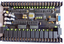 30MR 30MT Black Control Board for Mitsubishi FX1N PLC, STM32 MCU 16 input 14 output Module 24VDC Relay or Transistsor