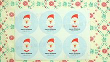 6pcs/sheet Blue Santa Claus sealing paste Merry Christmas Diy decoration stickers Handmade Events Party Packaging Seal stickers
