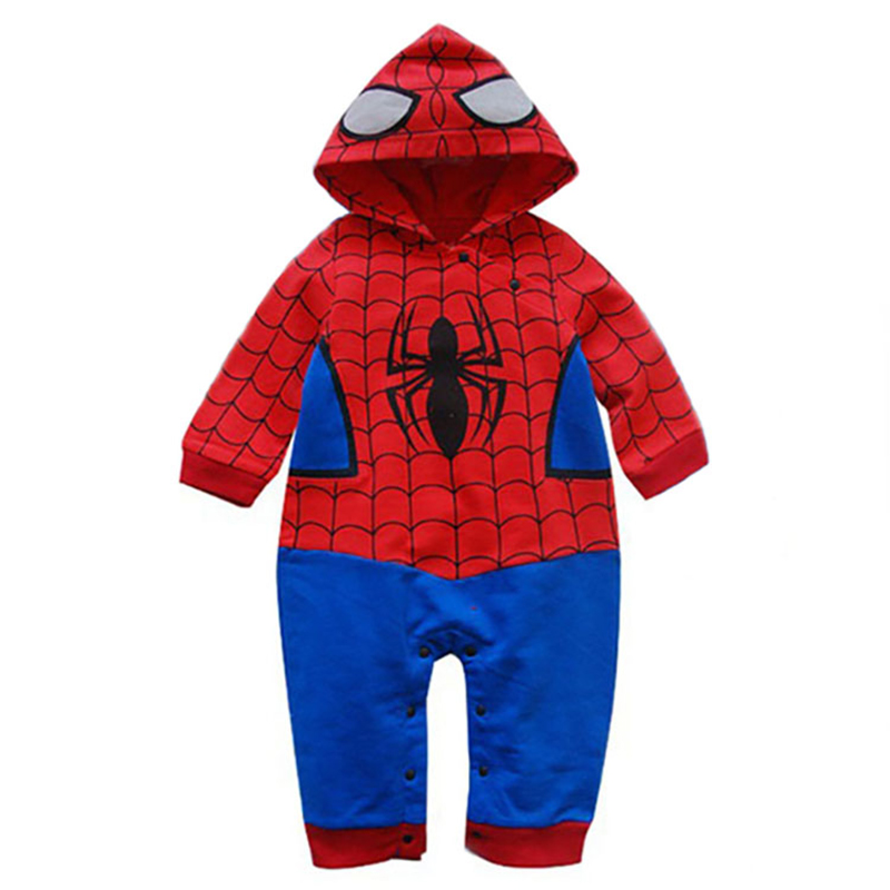 Newborn Baby Boys Rompers Sleeveless Cotton Onesie,Art Spider Bodysuit Autumn Pajamas