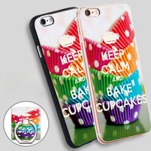 keep calm and bake cupcakes Soft TPU Silicone Phone Case Cover for iPhone 5 SE 5S 6 6S 7 Plus