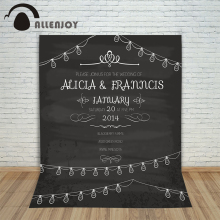 Wedding background Vintage Party Invitation Love Wedding invitation Design Retro Blackboard Layout Celebration Wreath Chalk(China)