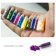D12-1/ 12 bottles/set DIY Nail Art Decorations Powder Dust Tip Rhinestone 12 Colors Shining Nail Glitter Beeds