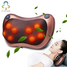 Electric Infrared Heating Kneading Neck Shoulder Back Body Spa Massage Pillow Car Home Use Chair Shiatsu Massager Device GYH(China)