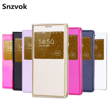 Snzvok View Window Flip Case For Samsung Galaxy S8 S8 Plus A3 A5 A7 2017 J3 J2 J5 J7 prime S6 S7 edge A8 PU leather phone case