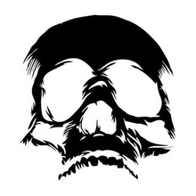 14.2*15.2CM Terrible Evil Skull Face Car Stickers Funny Motorcycle Vinyl Decals Black/Silver C7-1242(China)