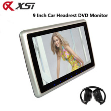 XST 9 Inch Car Headrest Monitor DVD Player Support HD 1080P Video USB/SD Input Built-in IR/FM Transmitter Speaker(China)