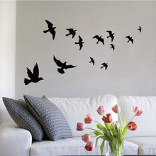 New Waterproof Flying Birds Wall Sticker Home Decoration Wall Decals Wall Stickers Adesivo De Parede Pegatinas De Pared