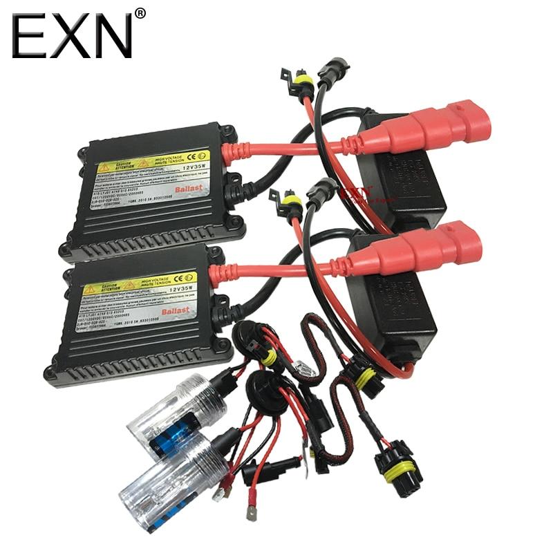 AC 35W HID Xenon Bulb Kit for Cars 12V HID Conversion Kit Slim Ballast Fast Bright HID Headlight Fog Light H1 H3 H7 H8 H11 9005<br>