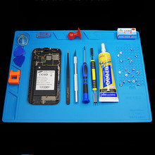 Hot Air Gun Station Heat Resistant Insulation Magnetic Silicone Pad Desk Mat Fix iPhone BGA Soldering Repair Tool Kit Set