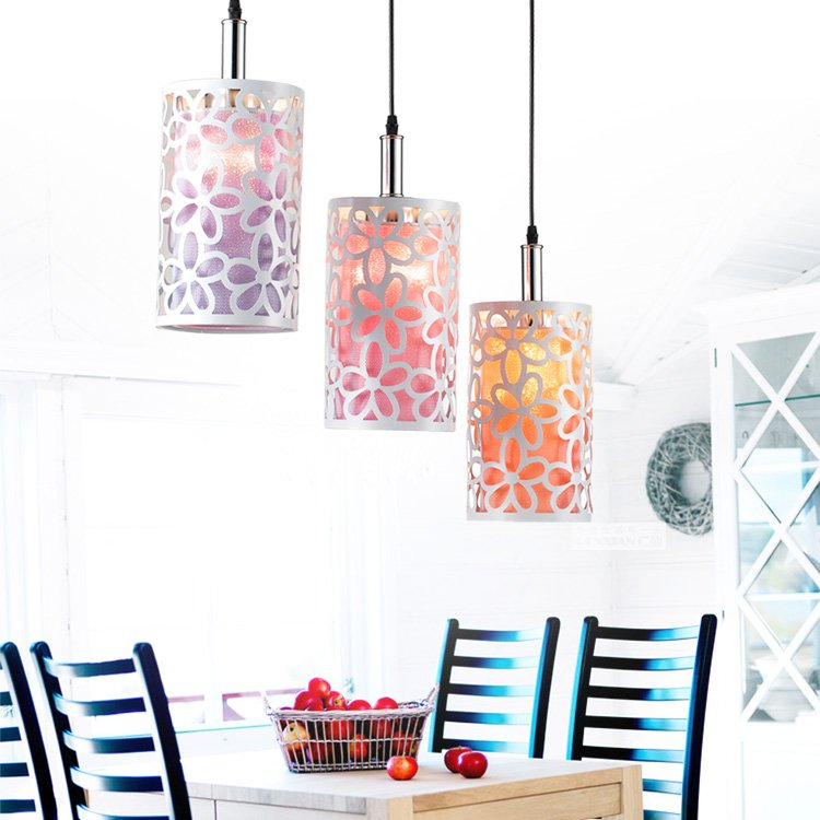 1/3 heads lamps Restaurant modern simple and stylish restaurant pendant light bar lamp idyllic flowers staircase aisle lamps<br>