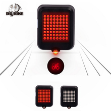 DRBIKE Automatic Turn Signal Bike Light USB Rechargeable Bicycle Lamp Tear Tail Lamp with 64 LED Brilliant Bike Accessories(China)