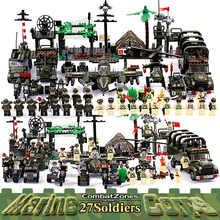 Enlighten Military Educational Building Blocks Toys For Children Gifts Army Cars Planes Helicopter Weapon Compatible With Legoe(China)