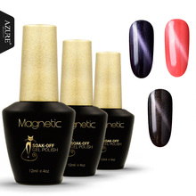 Azure Beauty 3pcs/lot 3D Cat Eyes UV Gel Polish 12ml Soak Off lUV Gel Nail Polish Magnetic Gel Lacquer Long-Lasting Gel(China)