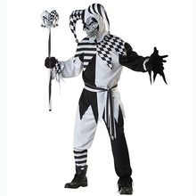 Deluxe Killer Clown Adults Halloween Fancy Dress Mens Circus Horror Costume New(China)