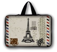 7'' Eiffel Tower Tablet Sleeve Case Laptop Bag For iPad Mini 2 3 Soft Tablet Cover 7.7 7.9 8 inch For Xiaomi Yi Asus Nexus 7(China)