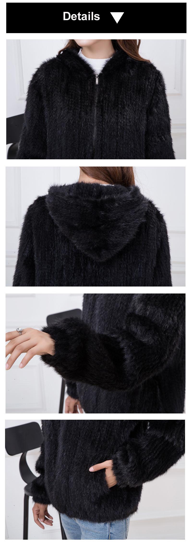 knit mink fur details