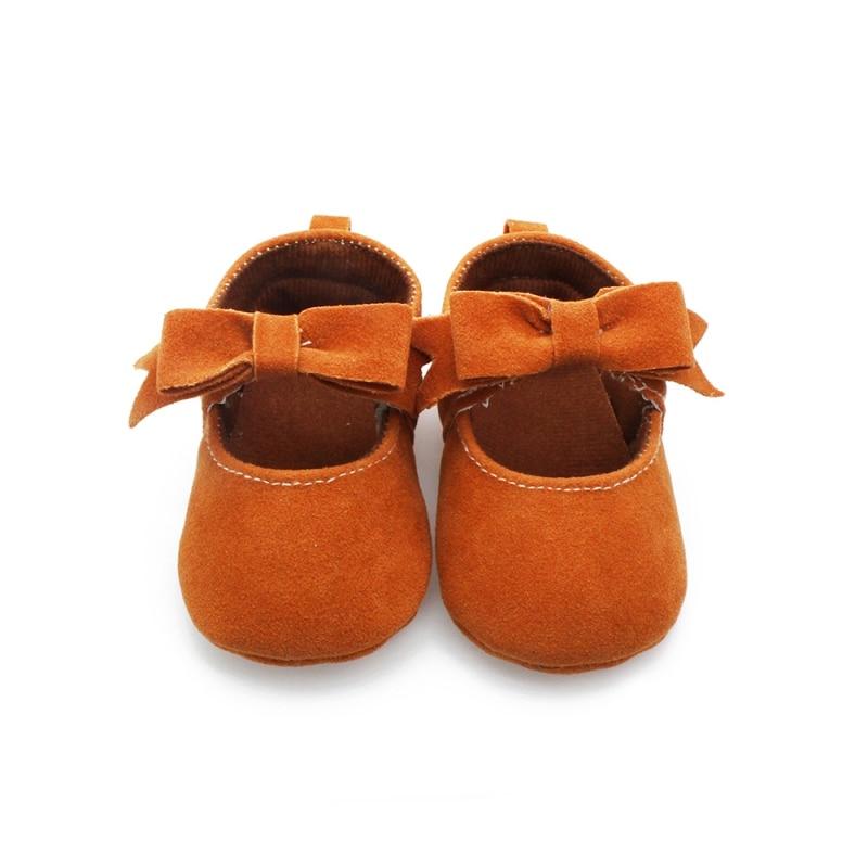 Cute Baby Princess Shoes Toddler Bowknot Flock Princess Shoes Infant Prewalkers 0-18M<br><br>Aliexpress