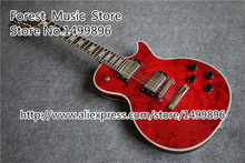 New Brand Quilted Electric Guitar 12 String Red LP Custom Guitar Body & Kits Custom Available
