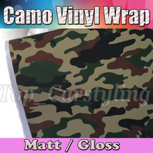 Green military Camo Vinyl Car Wrap Air Bubble Free & Camouflage foil Vehicle Graphic auto covering size 1.52x10m/20m/30m(China)