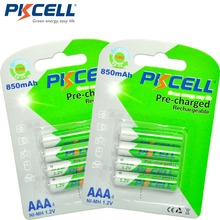 PKCELL 8Pcs/2card AAA Rechargeable Battery aaa Ni-MH 850mAh 1.2V Low Self-Discharge 3A Rechargeable Batteries Bateria(China)