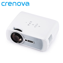 Crenova XPE460 LED Upgraded Projector 1200 Lumens 800*480 Resolution Home Cinema Support PC Laptop USB TV Box iPad Smartphone