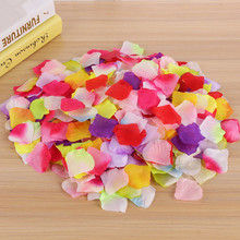 FLYDREAM 100pcs/lot Artificial Silk Rose Petals Wedding Party Festival Decoration Bridal Flowergirl Basket Fake Flowers Supplies(China)