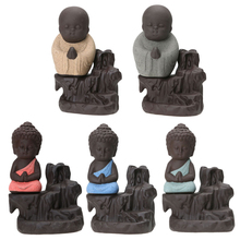 Monk figurines Figures Home Decortion Tea Pet The Little Monk Buddha Boutique Purple Sand Pottery The Little Monk Ornaments(China)
