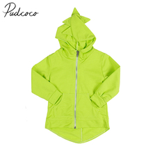 PUDCOCO Brand Cotton Blend Toddler Kids Clothes Boys Girl Dinosaur Sweatshirt Hoodies Jacket Coat Outerwear(China)