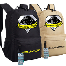 New Metal Gear Solid Backpack Anime Diamond Dogs oxford Schoolbags Fashion Unisex Travel Bag
