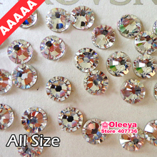 AAAAA Best Quality Clear Hot Fix Rhinestone More Shiny Super Bright Hotfix Iron On Stones For Motif Designs Y2791