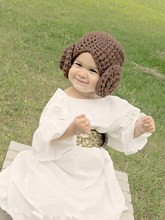 Handmade Baby hat Toddler crochet Hats,Star Wars Princess Leia Hat Crochet Wig Pattern 200pcs/lot