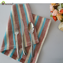 HAKOONA  Stripes kitchen table placemats Cotton Home Baking Background  Design Cloth Table Napkins  Tea  Towels 42*66cm