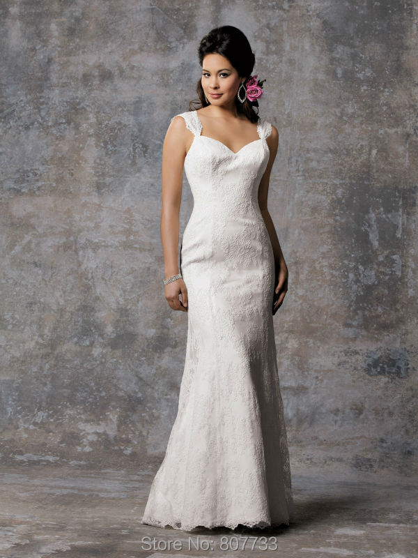 Simple Wedding Gowns No Train