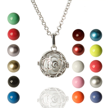 Pregnancy Necklace wish box Mexican Bola 16mm Harmony Ball fashion glowing necklace Mother Lockets Jewelry rose