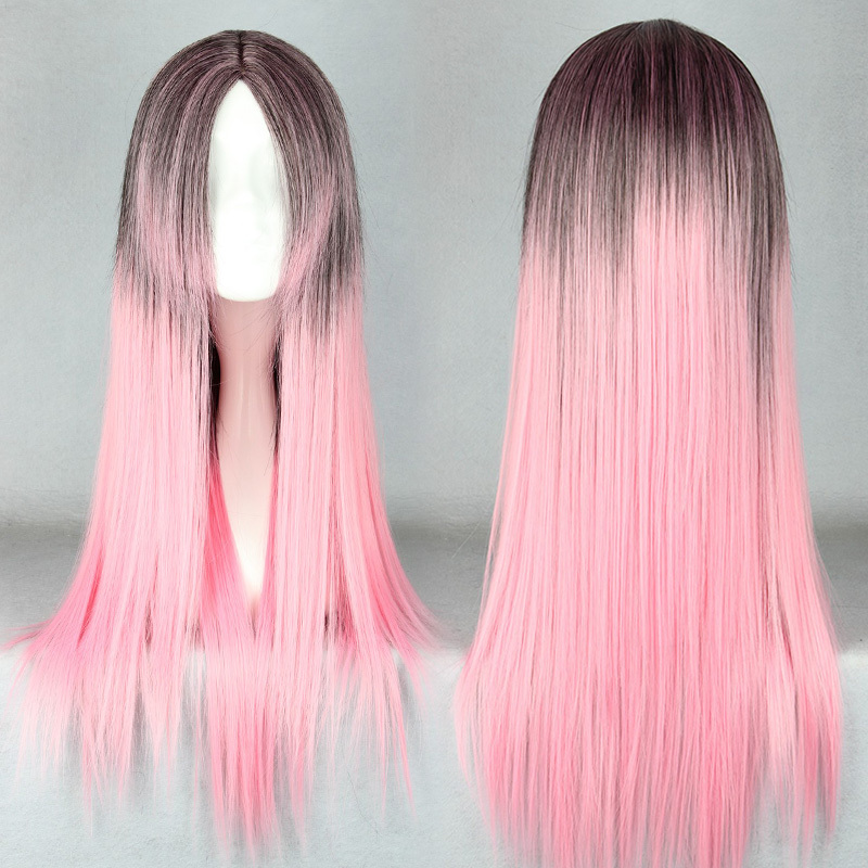 Synthetic Hair MCOSER Free Shipping Anime Wig Color Mixed 65cm Long Straight Hair Cosplay Lolita Wig<br><br>Aliexpress