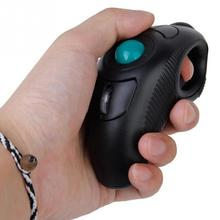 Mini Portable finger Trackball Mice Mouse 10M2.4Hz USB Handheld Wireless Optical Trackball