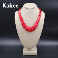 Kakee Turquoises Stone Round Strand Bead Tibetan Statement Women Necklace Collier Gift Ethnic Minimalist Fashion Jewelry