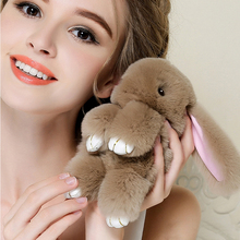 Buy 18 cm Rabbit Keychain 2017 Fashion Bunny Keychain pendant Bag Car Charm Key Ring Tag Cute Rabbit Toy Doll fur pompom key chain for $2.77 in AliExpress store