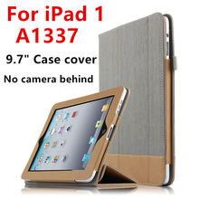 Case For iPad 1 one First generation Protective Smart Cover Leather PU Tablet For iPad1 A1337 A1219 Sleeve Protector No camera(China)