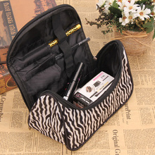New Makeup Organizer Storage Box Zebras Cosmetic Organizer Pouch Fashion Zipper Women Toiletry Bag