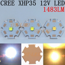 2016 NEW 1PCS CREE 12V XHP35 HD Cool White Neutral White Warm White LED on 20mm Cooper PCB/16mm 14mm 12mm 8mm PCB.