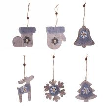 Christmas Decorations for Home 3D Wooden Felt Cover Pendants Christmas Tree Decoration Pendant  Christmas Ornaments