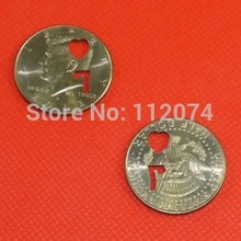 7 of Hearts/3 of Square Half Dollar,Brand Coin Magic Tricks Close Up Illusion Accessory Gimmick Props(China)