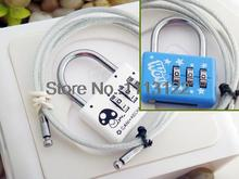 3 Digital Steel Wire Combination Lock Double Safety Code Lock Long Wire Lock Luggage lock 5 Pcs