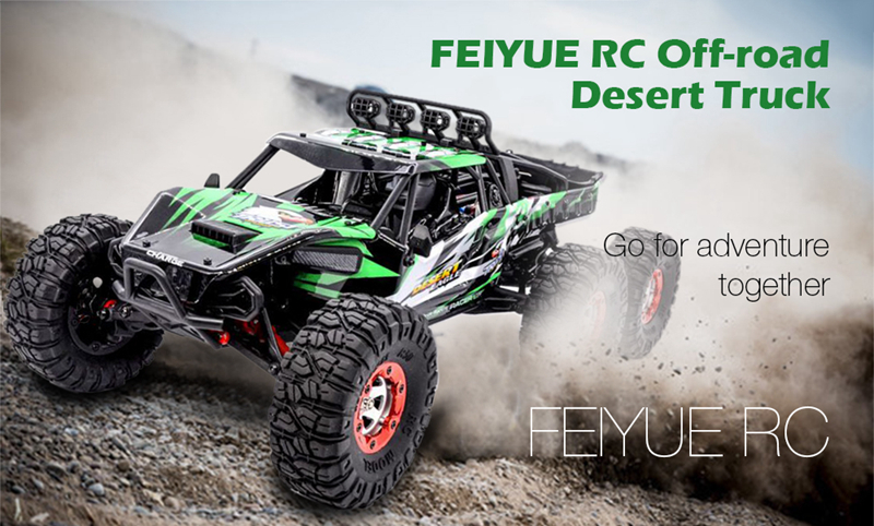 06-1 FY06FY07 112 2.4GHz 6WD RC Off-road Desert Truck RTR 60km70km High Speed Metal Shock Absorber LED Lights boy best gift toy