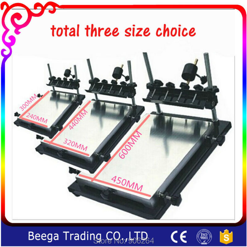 Single Medium Size Screen Printing Equipment Manual Screen Printing Machine Printing Board 320MMx440MM Total Three Size Choice<br>